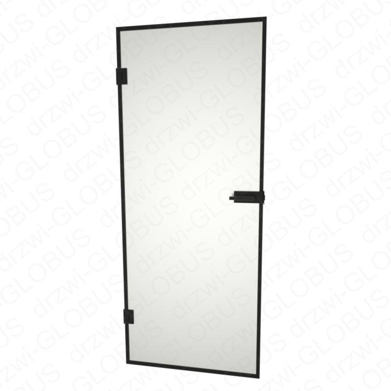 Drzwi szklane otwierane LOFT w ramce - bez ościeżnicowe (na wymiar)