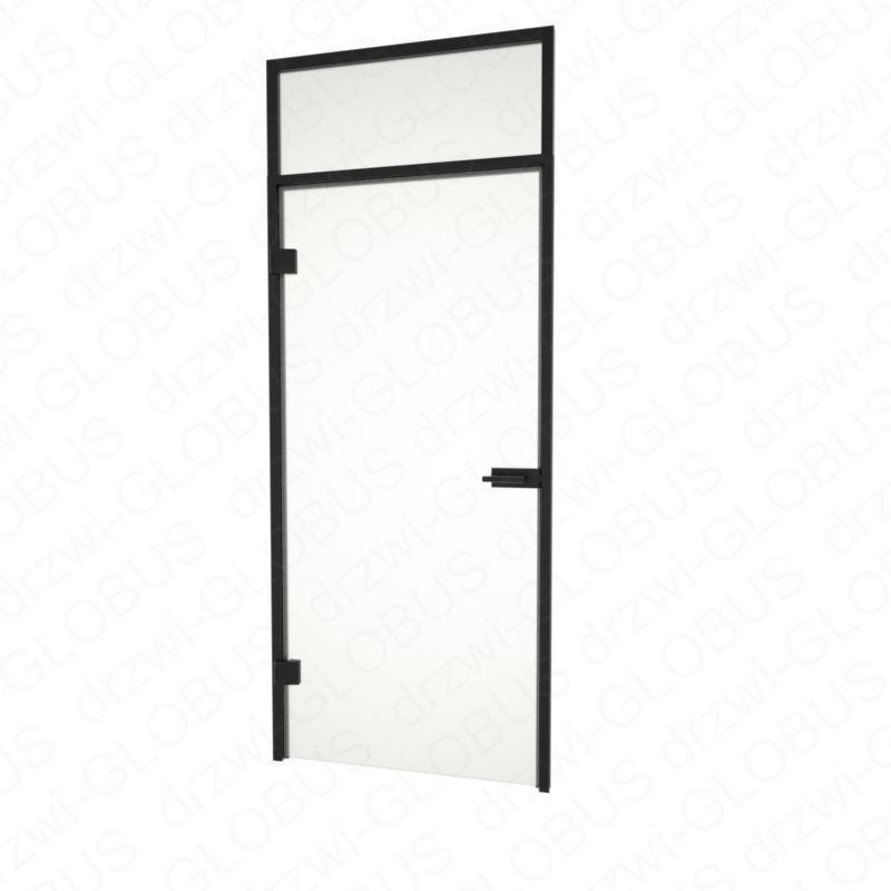 Drzwi szklane otwierane + naświetle górne (na wymiar)