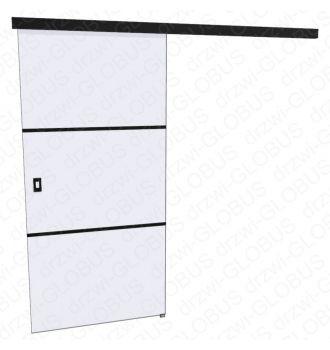 Drzwi szklane przesuwne LOFT 1 v2