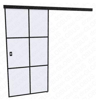 Drzwi szklane przesuwne LOFT 1 v4