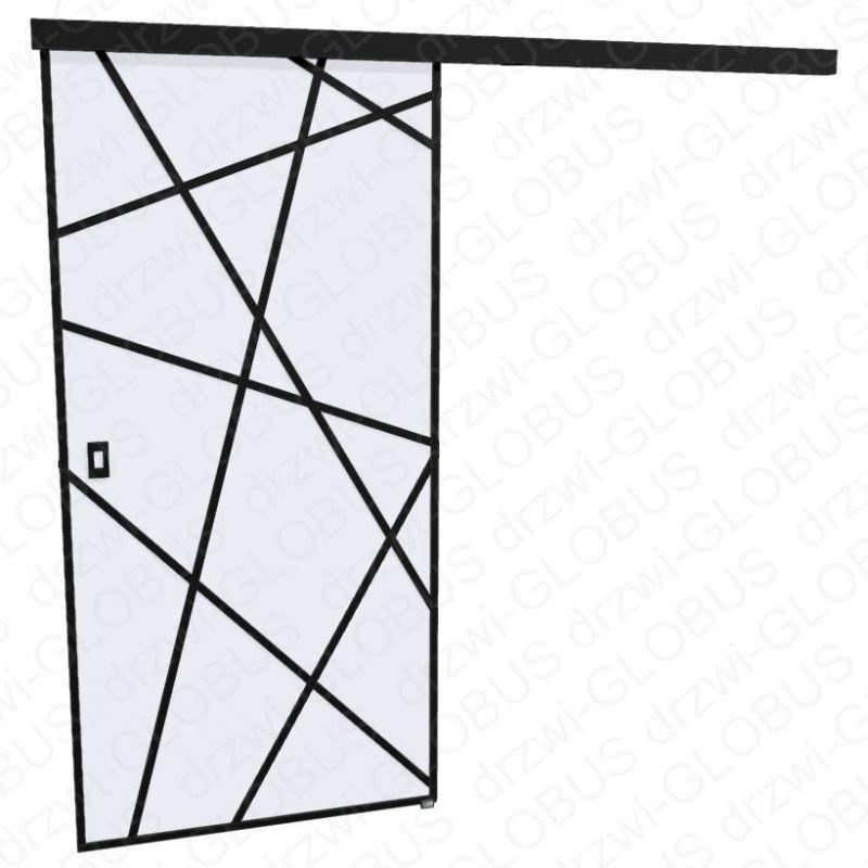 Drzwi szklane przesuwne LOFT 1 v5