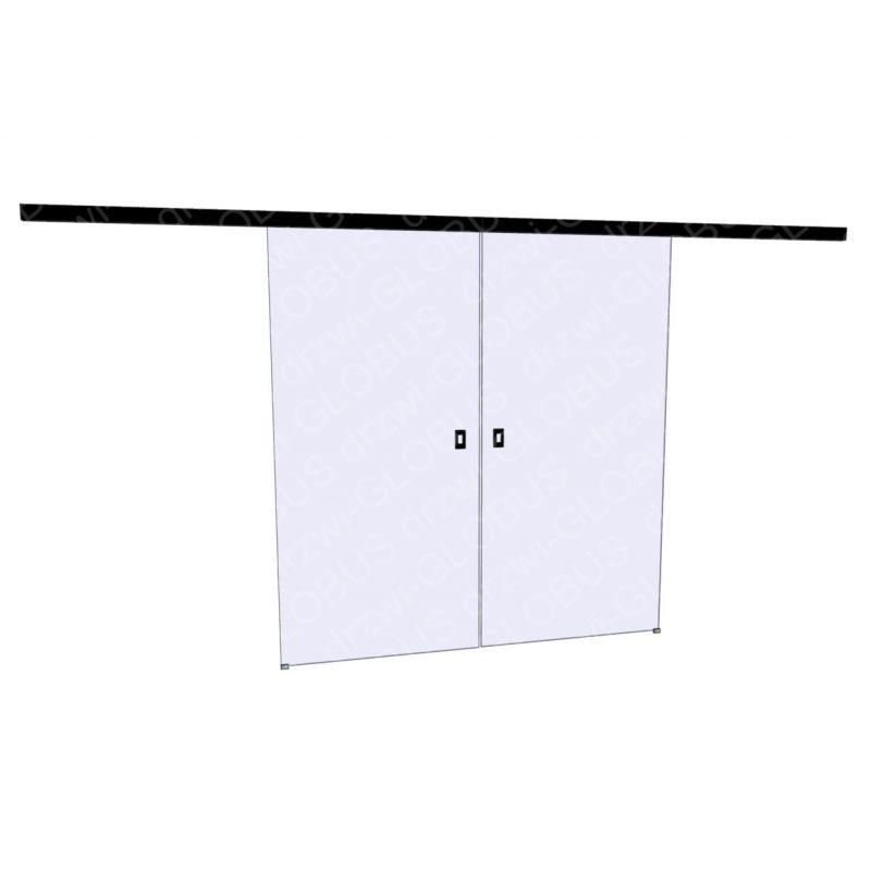Drzwi szklane przesuwne LOFT 1 dwuskrzydłowy