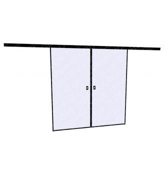Drzwi szklane przesuwne LOFT 1 v1 dwuskrzydłowe