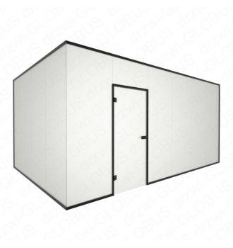 Zabudowa szklana narożna z drzwiami otwieranymi w futrynie (na wymiar)