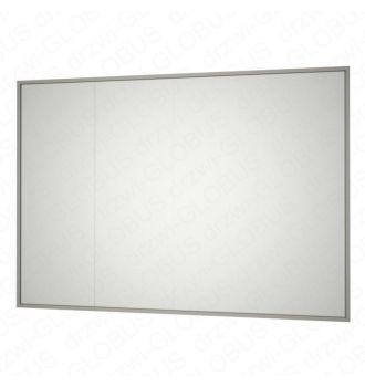 Zabudowa szklana w ramie bez drzwi kolor INOX (na wymiar)