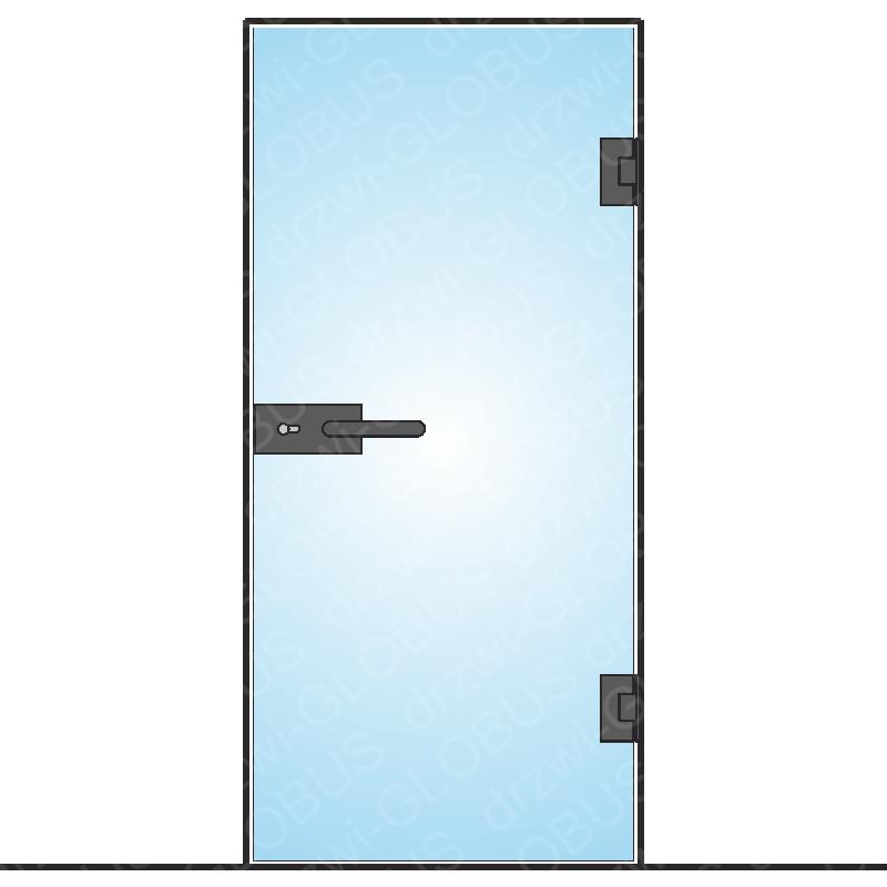 Drzwi szklane bez ościeżnicy - mocowane DO ŚCIANY LOFT