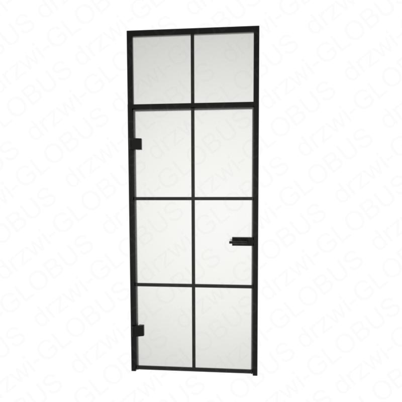 Drzwi szklane otwierane LOFT + naświetle górne + szpros poziomy i pionowy (na wymiar)