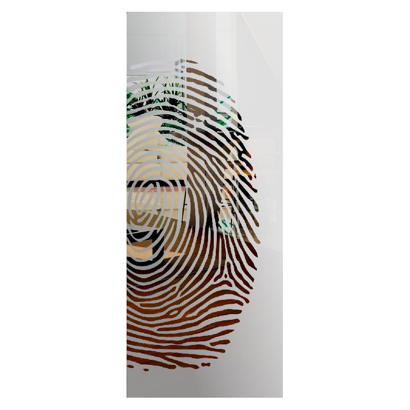 Wzór piaskowany nr 81 na drzwi szklane