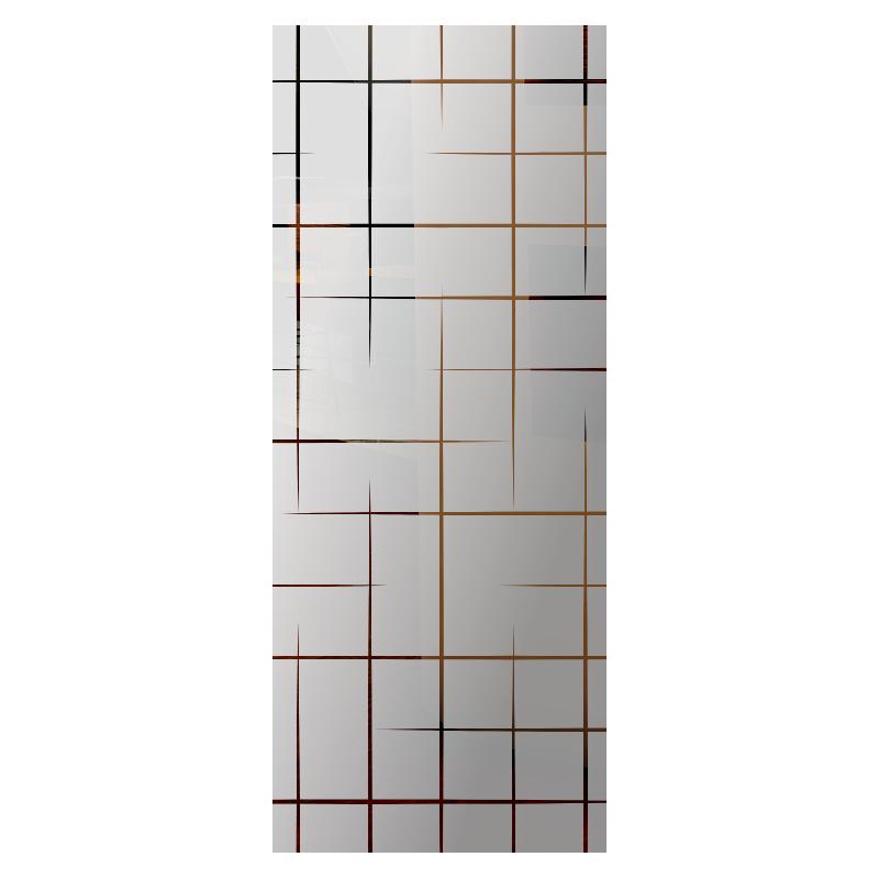 Wzór piaskowany nr 82 na drzwi szklane