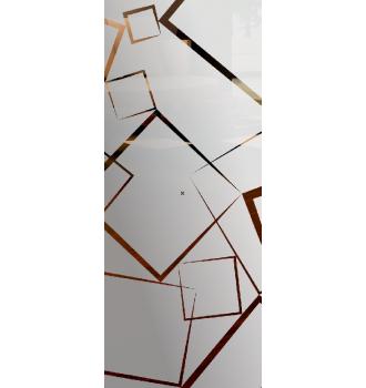 Wzór piaskowany nr 84 na drzwi szklane