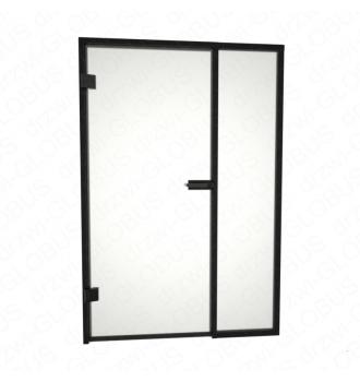 Drzwi szklane otwierane LOFT + naświetle stałe + szpros poziomy i pionowy (na wymiar)