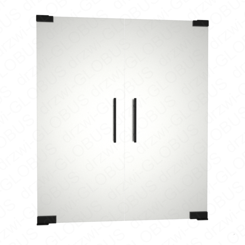 Drzwi szklane dwuskrzydłowe wahadłowe LOFT mocowane GÓRA/DÓŁ bez wkuwania ! (na wymiar)
