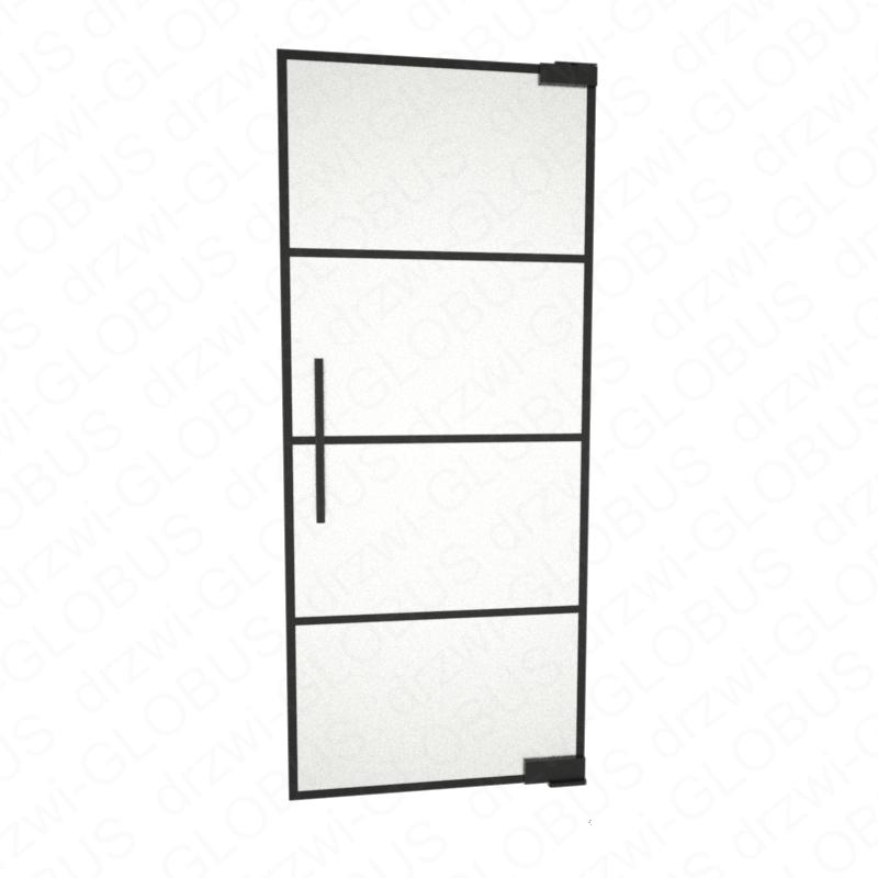 Drzwi szklane wahadłowe LOFT WZÓR 2 mocowane GÓRA/DÓŁ bez wkuwania ! (na wymiar)