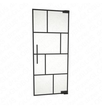 Drzwi szklane wahadłowe LOFT WZÓR 3 mocowane GÓRA/DÓŁ bez wkuwania ! (na wymiar)