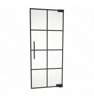 Drzwi szklane wahadłowe LOFT WZÓR 5 mocowane GÓRA/DÓŁ bez wkuwania ! (na wymiar)