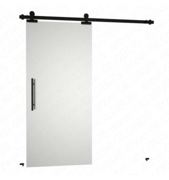 Drzwi szklane przesuwne system RUROWY SLIM LOFT (w 24h)