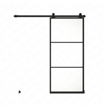 Drzwi szklane przesuwne system LOFT CLASSIC 2 (w 24h)