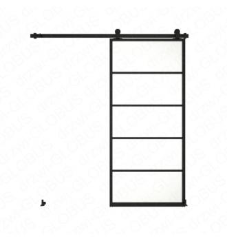 Drzwi szklane przesuwne system LOFT CLASSIC 4 dwuskrzydłowy