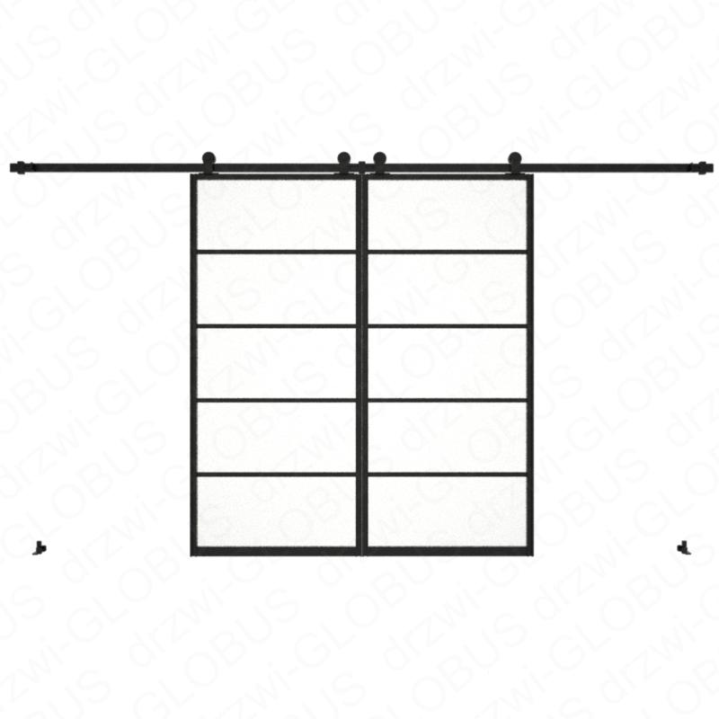 Drzwi szklane przesuwne system LOFT CLASSIC 4 dwuskrzydłowy (w 24h)