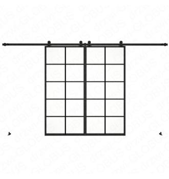 Drzwi szklane przesuwne system LOFT CLASSIC 4P dwuskrzydłowy (w 24h)