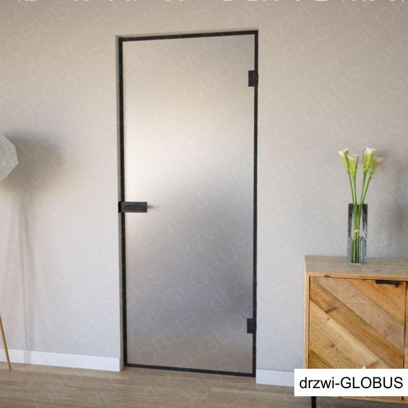Drzwi szklane otwierane LOFT + szprosy (na wymiar)