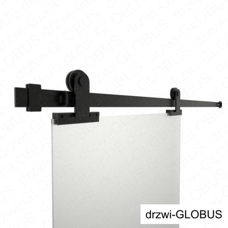 Drzwi szklane dwuskrzydłowe przesuwne RUROWY SLIM LOFT na wymiar