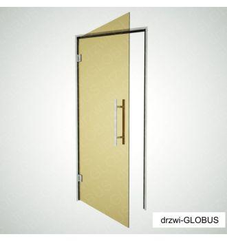 Drzwi szklane do SAUNY, ŁAŹNI PAROWEJ + futryna (na wymiar)
