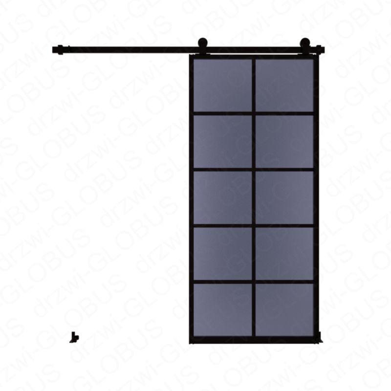 Drzwi szklane przesuwne system LOFT CLASSIC 4P