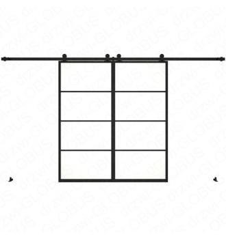 Drzwi szklane przesuwne system LOFT CLASSIC 3 dwuskrzydłowy