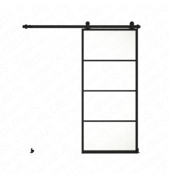 copy of Drzwi szklane przesuwne system LOFT CLASSIC 3 dwuskrzydłowy