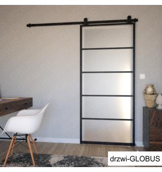 Drzwi szklane przesuwne system LOFT CLASSIC (w 24h) - zasunięte