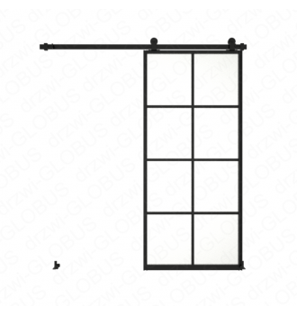 Drzwi szklane przesuwne system LOFT CLASSIC 3P dwuskrzydłowy