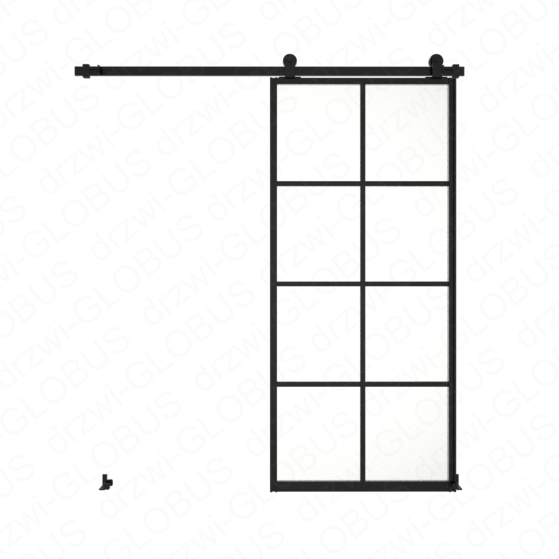 Sliding glass door system LOFT CLASSIC 3P two-winged