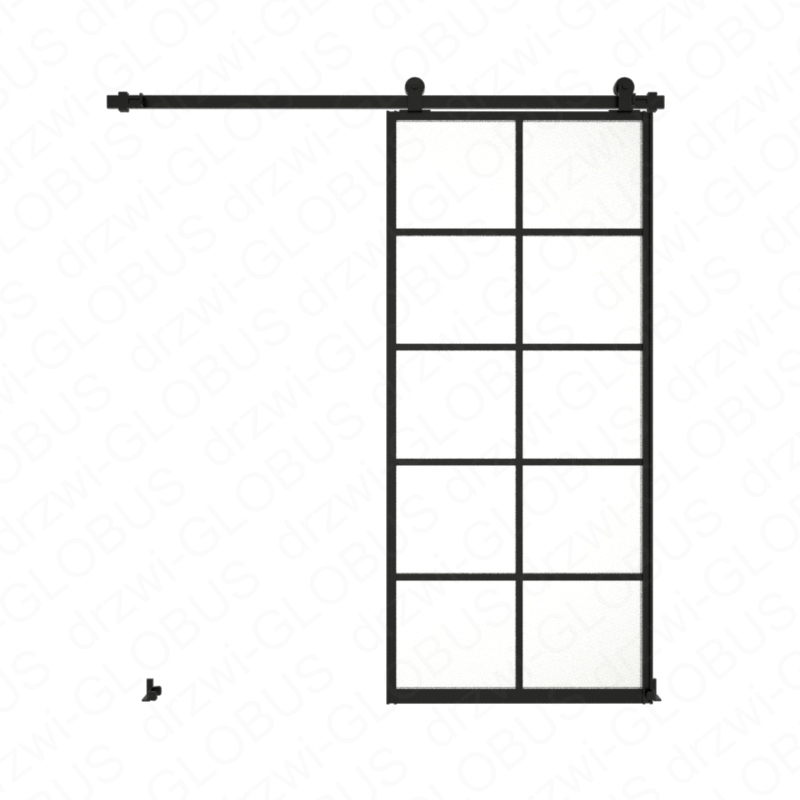 Drzwi szklane przesuwne system LOFT CLASSIC 4P dwuskrzydłowy