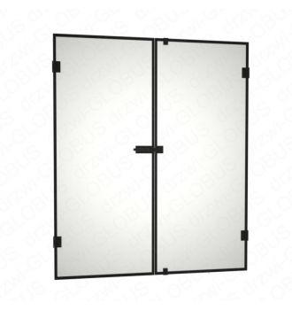 Drzwi szklane dwuskrzydłowe otwierane LOFT (na wymiar)