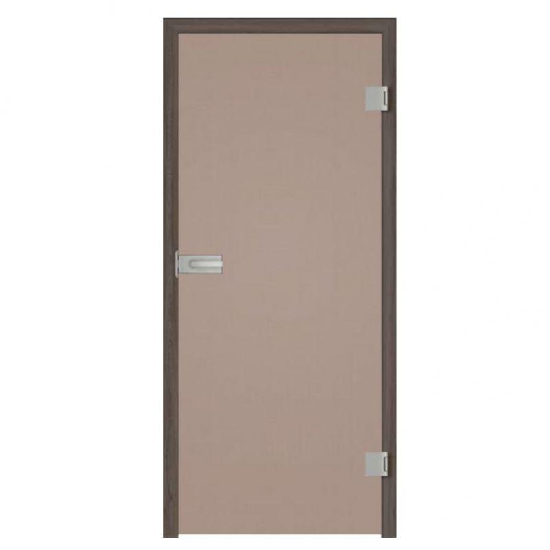 Drzwi szklane otwierane brąz (na wymiar)
