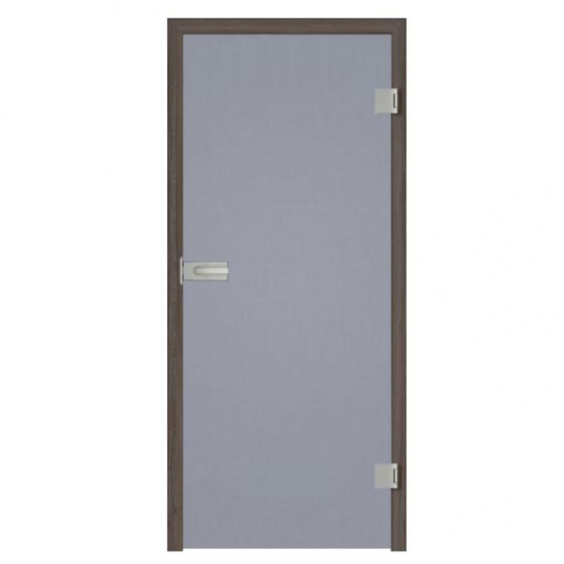 Drzwi szklane otwierane grafit (na wymiar)