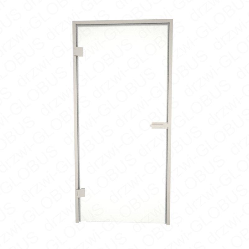 Drzwi szklane otwierane + futryna aluminium / stalowa (na wymiar)