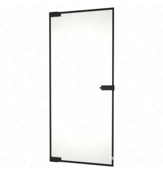 Drzwi szklane bez ościeżnicy LOFT + ramka - mocowane GÓRA DÓŁ (na wymiar)