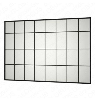 Zabudowa szklana LOFT w ramie i z szprosami bez drzwi (na wymiar)