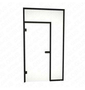 Drzwi otwierane jednoskrzydłowe + świetliki boczy i górny (na wymiar)
