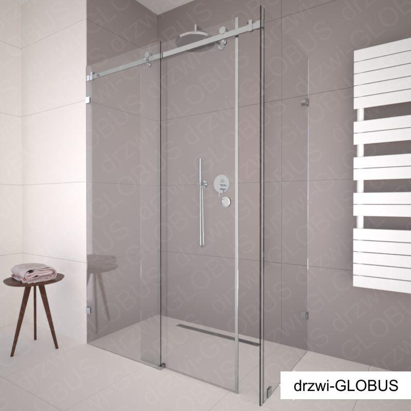 Kabina prysznicowa przesuwna narożna 1 - chrom (na wymiar)
