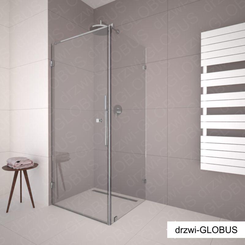 Kabina prysznicowa narożna - chrom (na wymiar)
