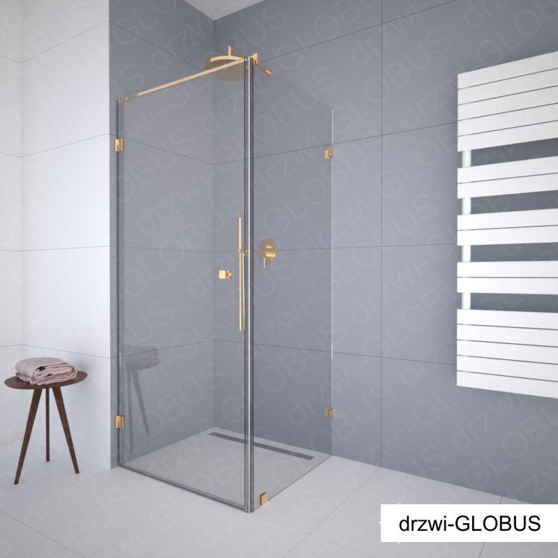 Kabina prysznicowa narożna GOLD/złota (na wymiar)