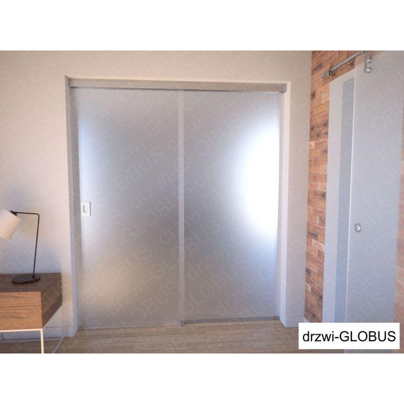 Drzwi szklane przesuwne system PRESTIGE + doświetle