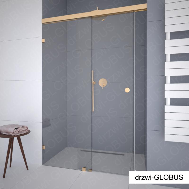 Kabina prysznicowa przesuwna wnękowa SYSTEM ZAMKNIĘTY GOLD (na wymiar)