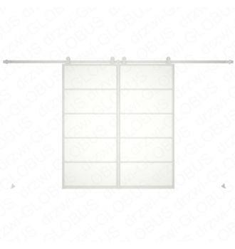 Drzwi szklane przesuwne system LOFT CLASSIC 4 dwuskrzydłowy (biały)