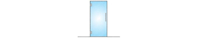 Drzwi szklane wahadłowe na wymiar