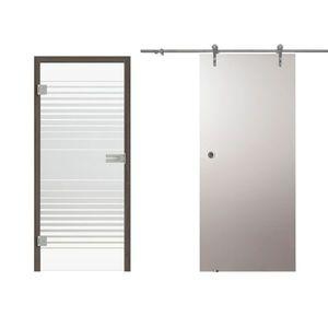 Drzwi szklane w systemie przesuwnym