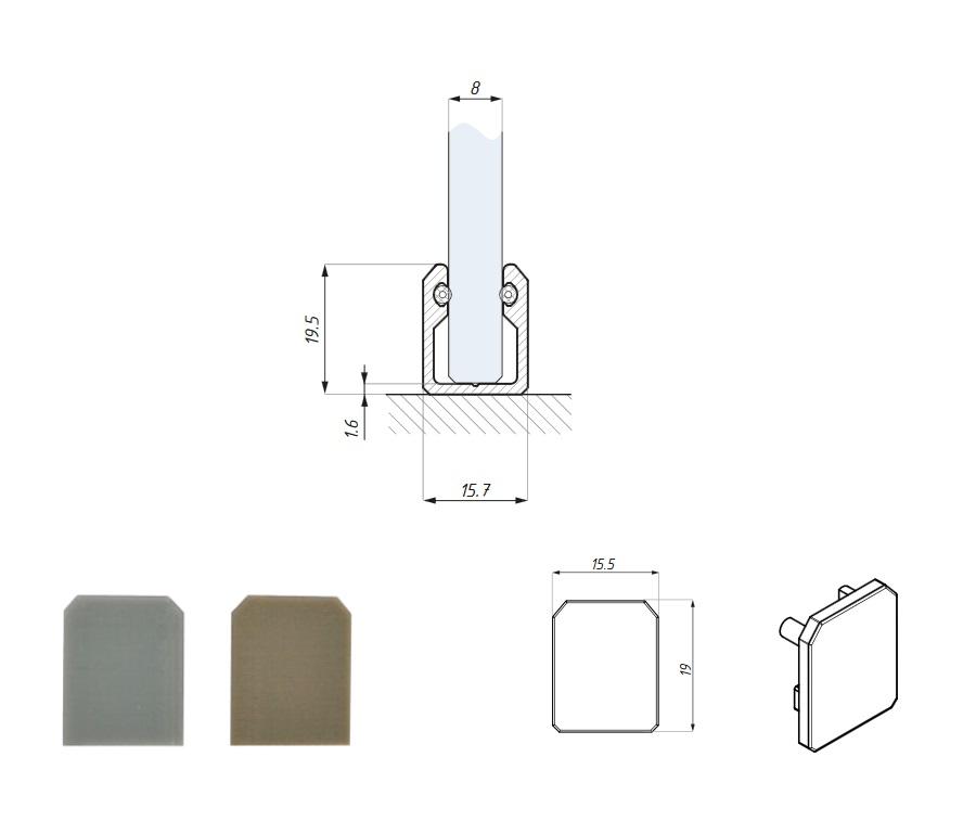 Profil z uszczelkami do montażu panela stałego
